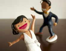 M + B Cake Toppers