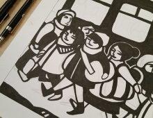CNY Modern Papercut